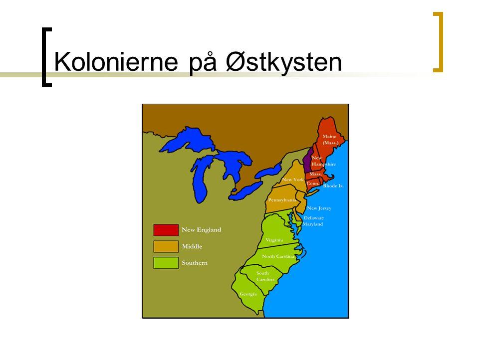 Kolonierne på Østkysten