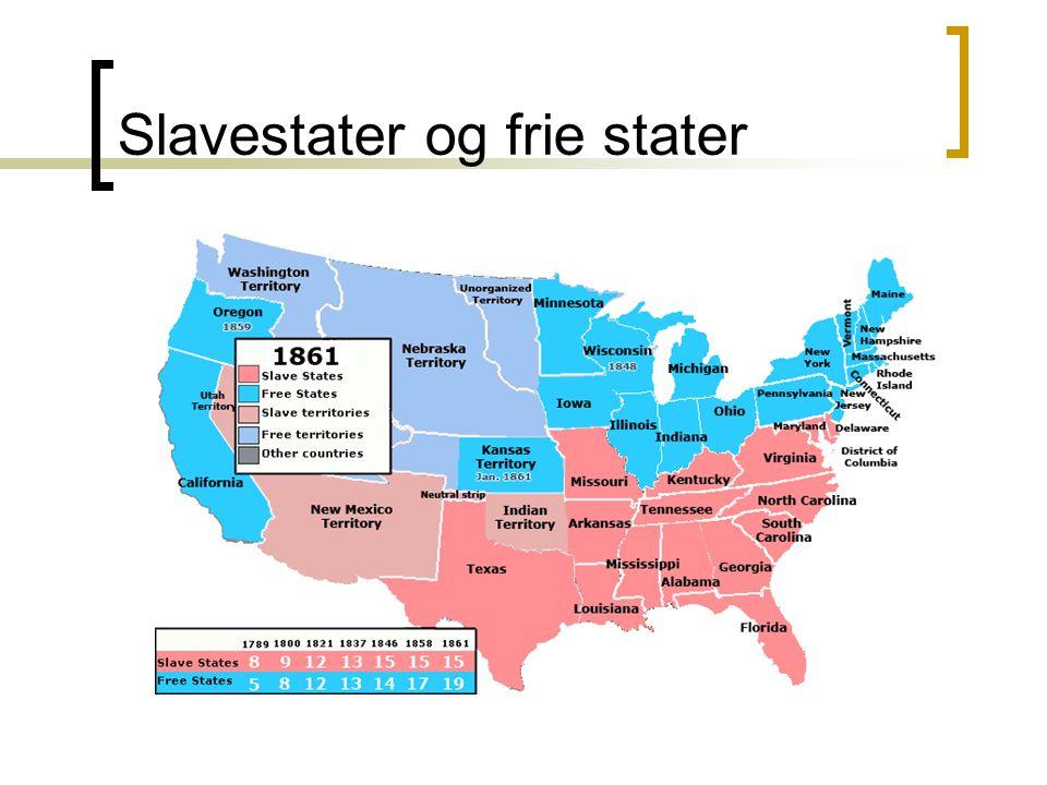 Slavestater og frie stater
