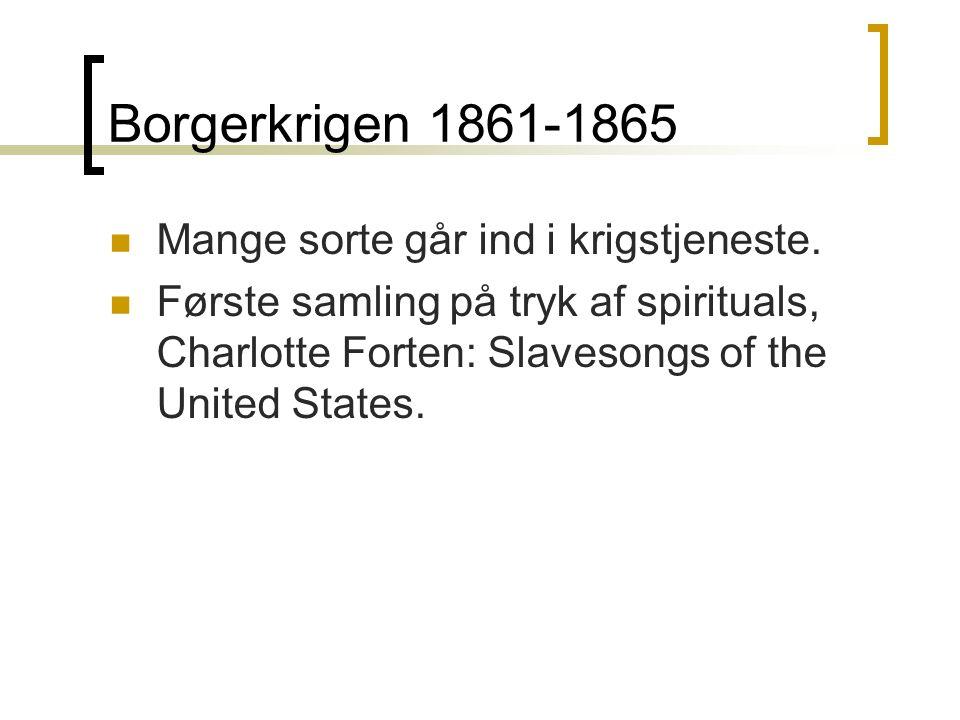 Borgerkrigen 1861-1865 Mange sorte går ind i krigstjeneste.