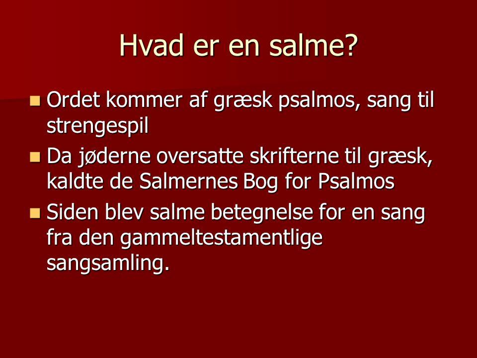 Hvad er en salme.