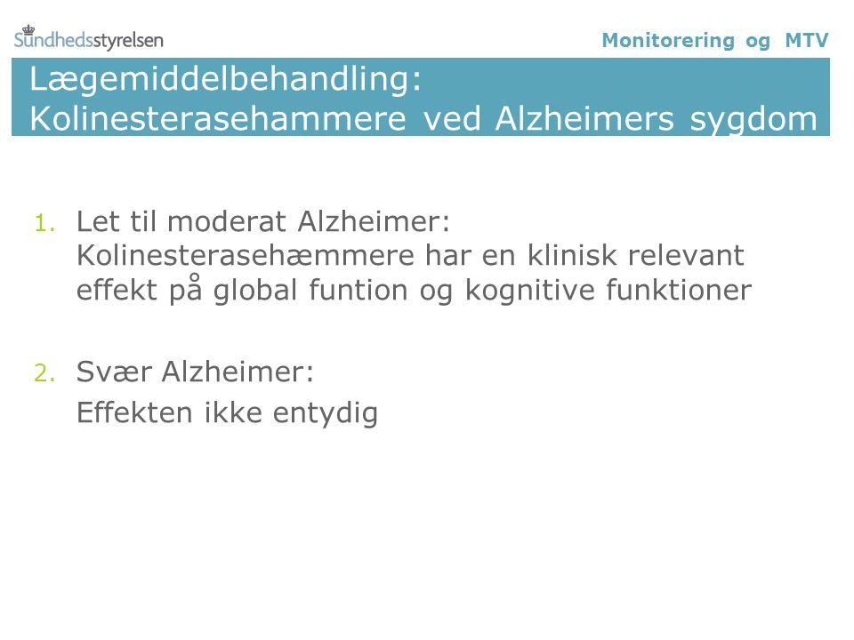 Lægemiddelbehandling: Kolinesterasehammere ved Alzheimers sygdom 1.