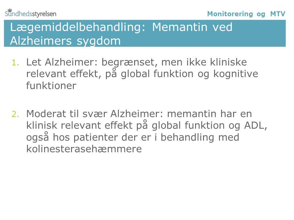 Lægemiddelbehandling: Memantin ved Alzheimers sygdom 1.
