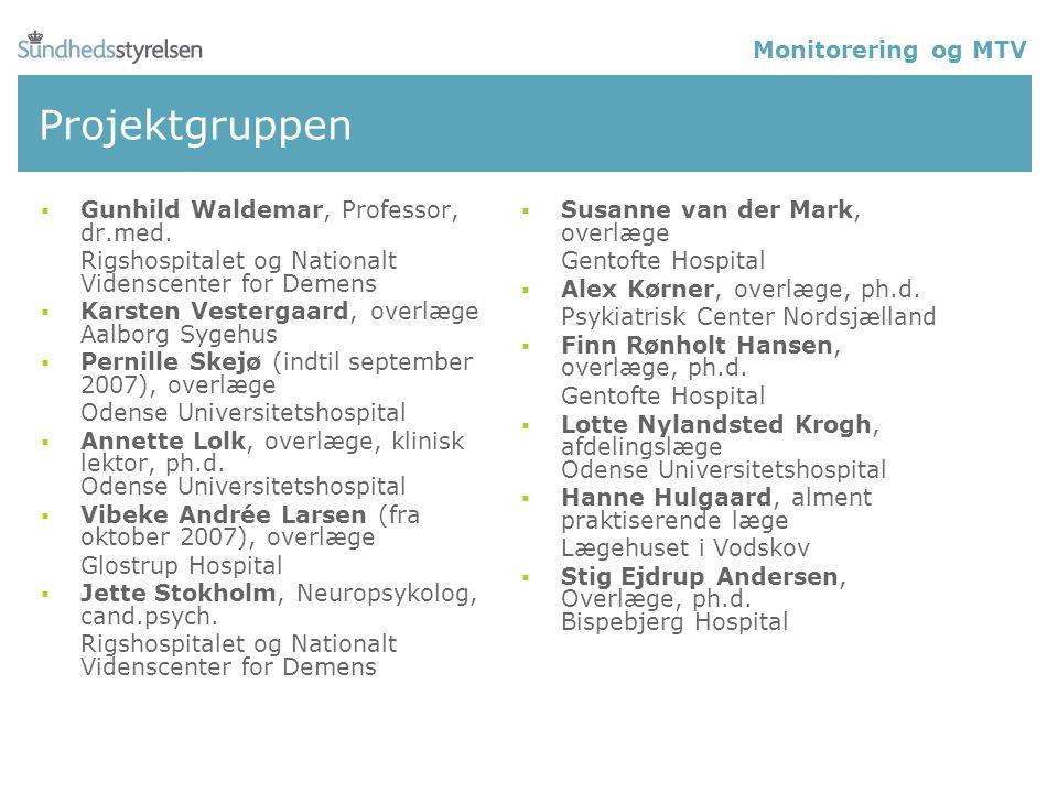 Projektgruppen  Gunhild Waldemar, Professor, dr.med.