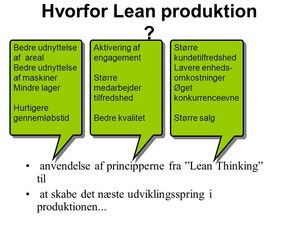 anvendelse af principperne fra Lean Thinking til at skabe det næste udviklingsspring i produktionen...