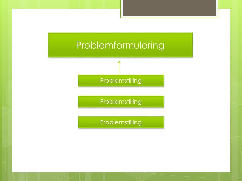 Den gode problemformulering  Begge fag skal kunne svare på problemformuleringen  Vælger du en problemformulering bygget op omkring et innovativt løsningsforslag, er det vigtigt, at det fremgår, hvilket problem der løses og evt.