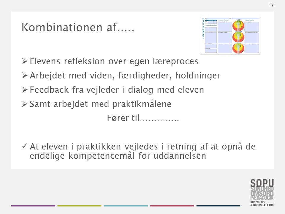 Tekstslide med bullets Brug 'Forøge / Formindske indryk' for at skifte mellem de forskellige niveauer Kombinationen af…..  Elevens refleksion over eg