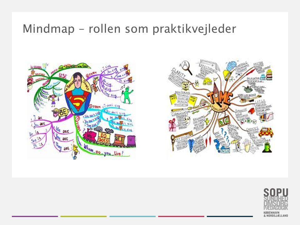 Tekstslide med bullets Brug 'Forøge / Formindske indryk' for at skifte mellem de forskellige niveauer Øvelse: Lav et mindmap over rollen som praktikvejleder
