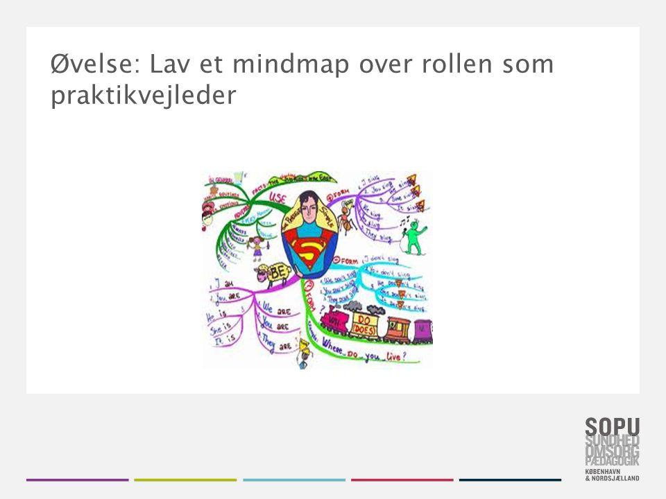 Tekstslide med bullets Brug 'Forøge / Formindske indryk' for at skifte mellem de forskellige niveauer Den gode vejleder – Mind-map