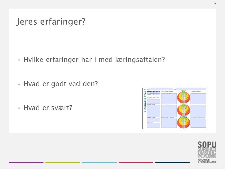 Tekstslide med bullets Brug 'Forøge / Formindske indryk' for at skifte mellem de forskellige niveauer Hvad er en læringsaftale.