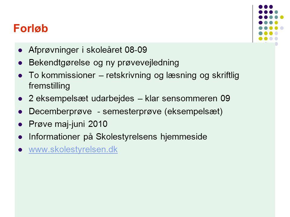 prøvevejledning dansk fsa