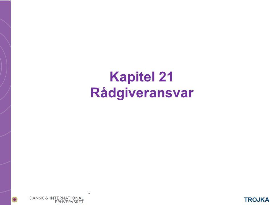 Kapitel 21 Rådgiveransvar