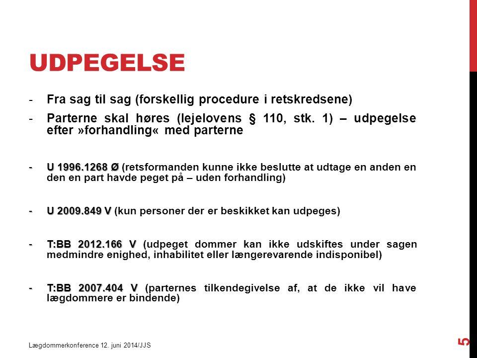 UDPEGELSE Lægdommerkonference 12.
