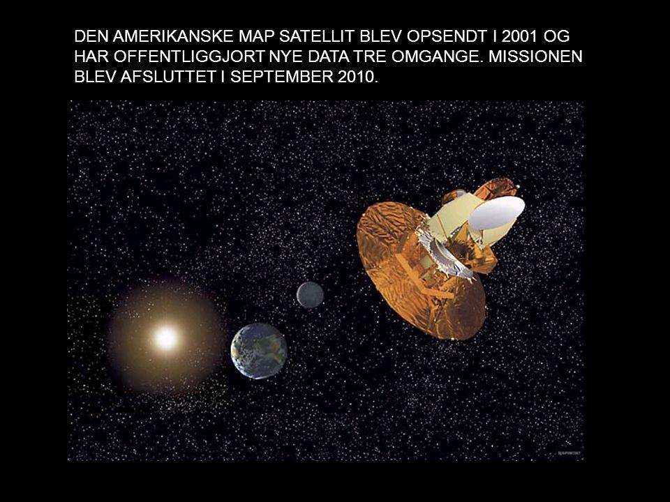Figur 28: MAP satellitten i L2 punktet. Figuren er fra NASA, så jeg ved ikke med copyright. DEN AMERIKANSKE MAP SATELLIT BLEV OPSENDT I 2001 OG HAR OF
