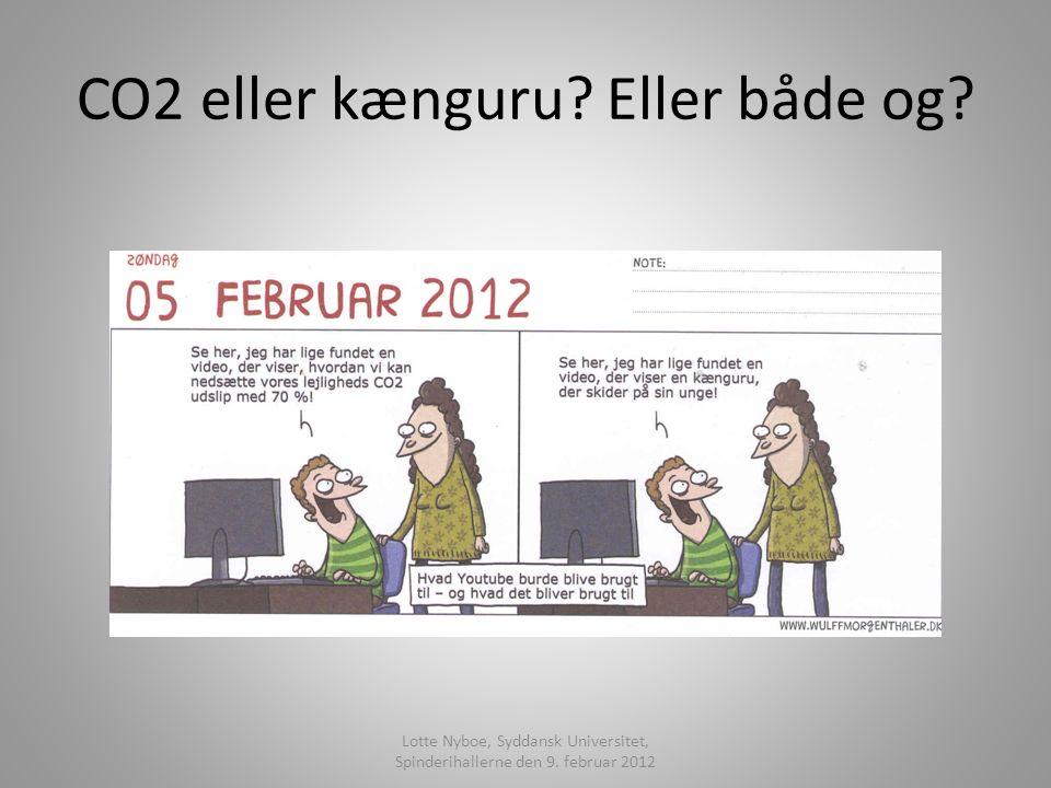CO2 eller kænguru. Eller både og. Lotte Nyboe, Syddansk Universitet, Spinderihallerne den 9.