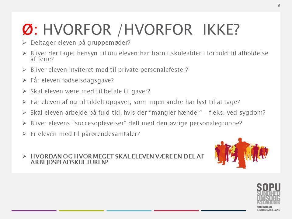 Tekstslide med bullets Brug 'Forøge / Formindske indryk' for at skifte mellem de forskellige niveauer Ø: HVORFOR /HVORFOR IKKE.