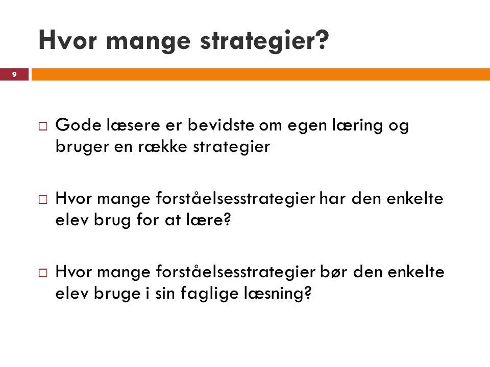 Hvor mange strategier.