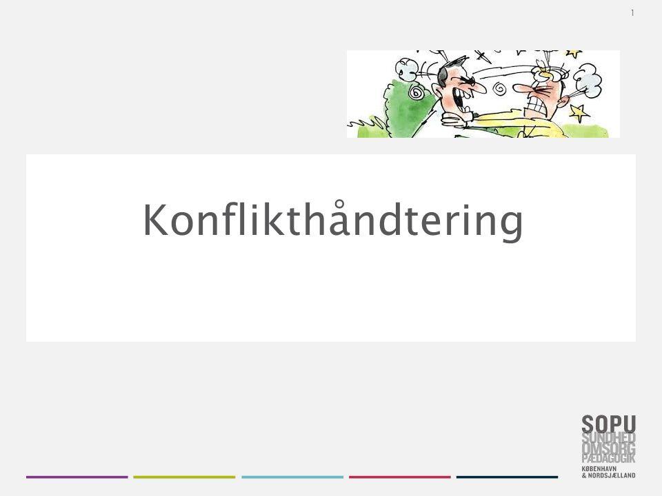 Skift farvedesign Gå til Design i Topmenuen Vælg dit farvedesign fra de seks SOPU-designs Vil du have flere farver, højreklik på farve- designet og vælg 'Applicér på valgte slides' Konflikthåndtering 1