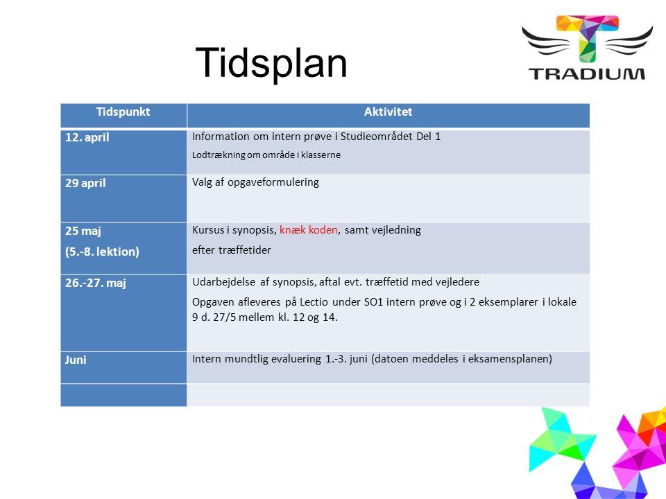 Tidsplan TidspunktAktivitet 12.