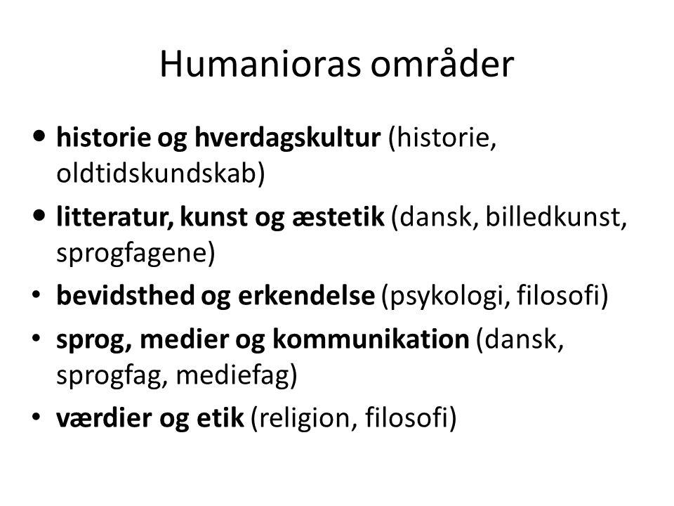 Humanioras teori og empiri Empiri er det materiale vi har brug for: tekster (udvidede tekstbegreb): litteratur, sagprosa, helligtekster, historiske kilder, billeder, musik, bygninger osv..