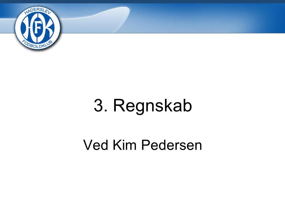 3. Regnskab Ved Kim Pedersen