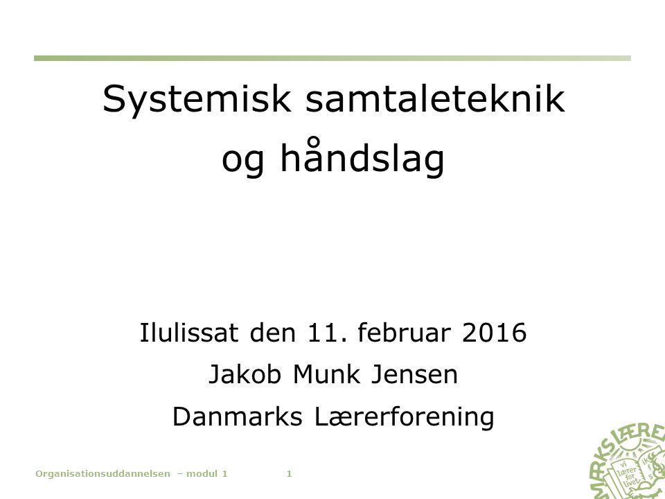 Systemisk samtaleteknik og håndslag Ilulissat den 11.