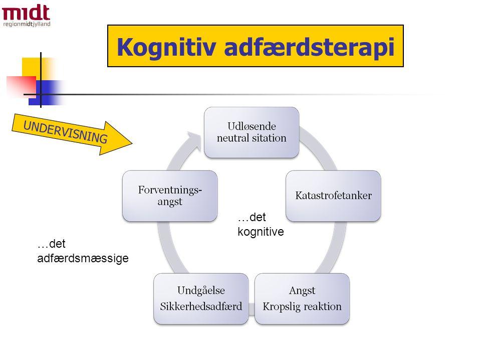 …det kognitive …det adfærdsmæssige Kognitiv adfærdsterapi UNDERVISNING