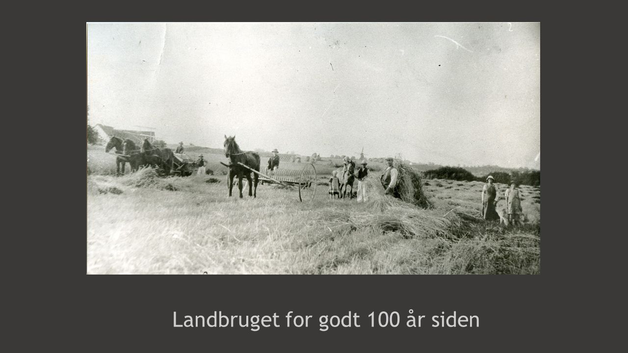 Landbruget for godt 100 år siden