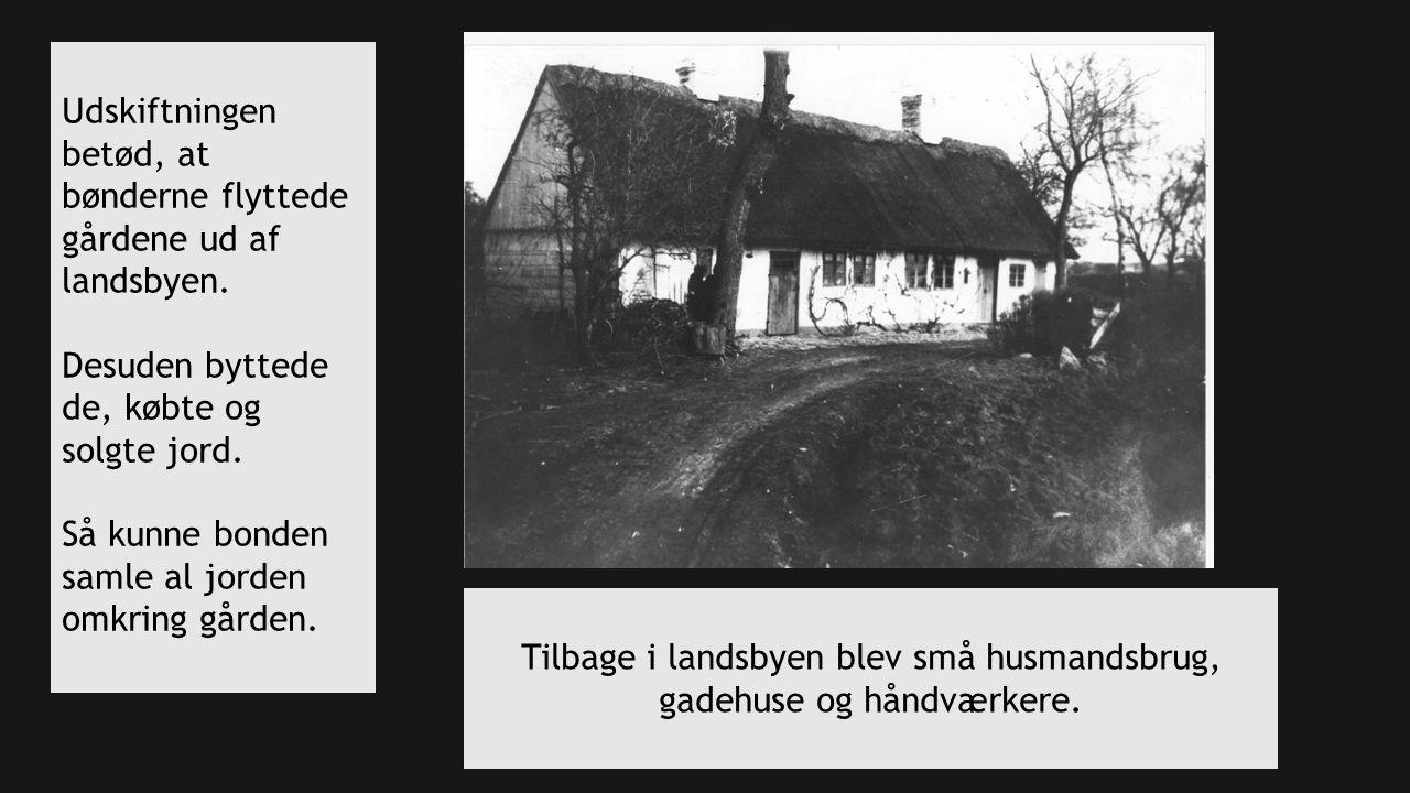 Tilbage i landsbyen blev små husmandsbrug, gadehuse og håndværkere.