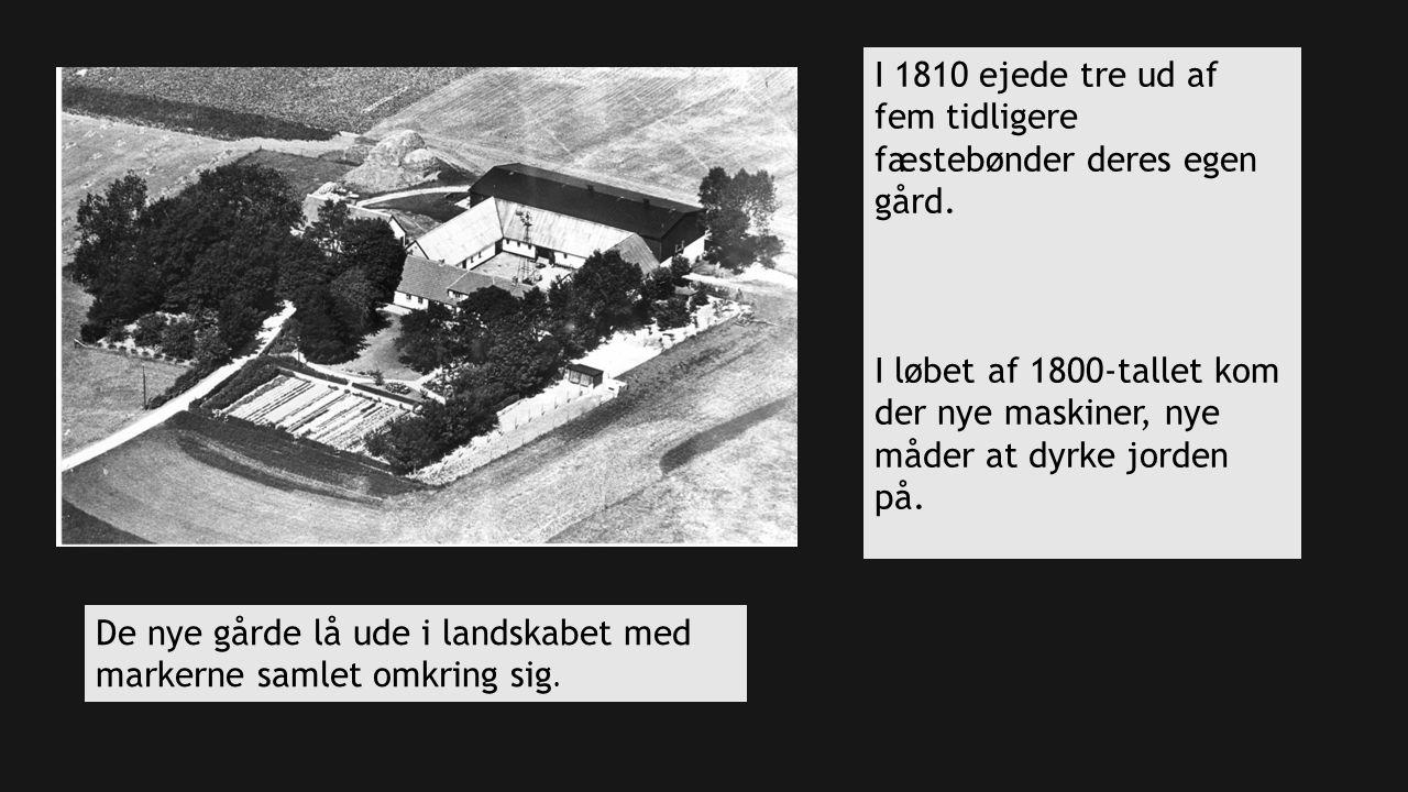 I 1810 ejede tre ud af fem tidligere fæstebønder deres egen gård.