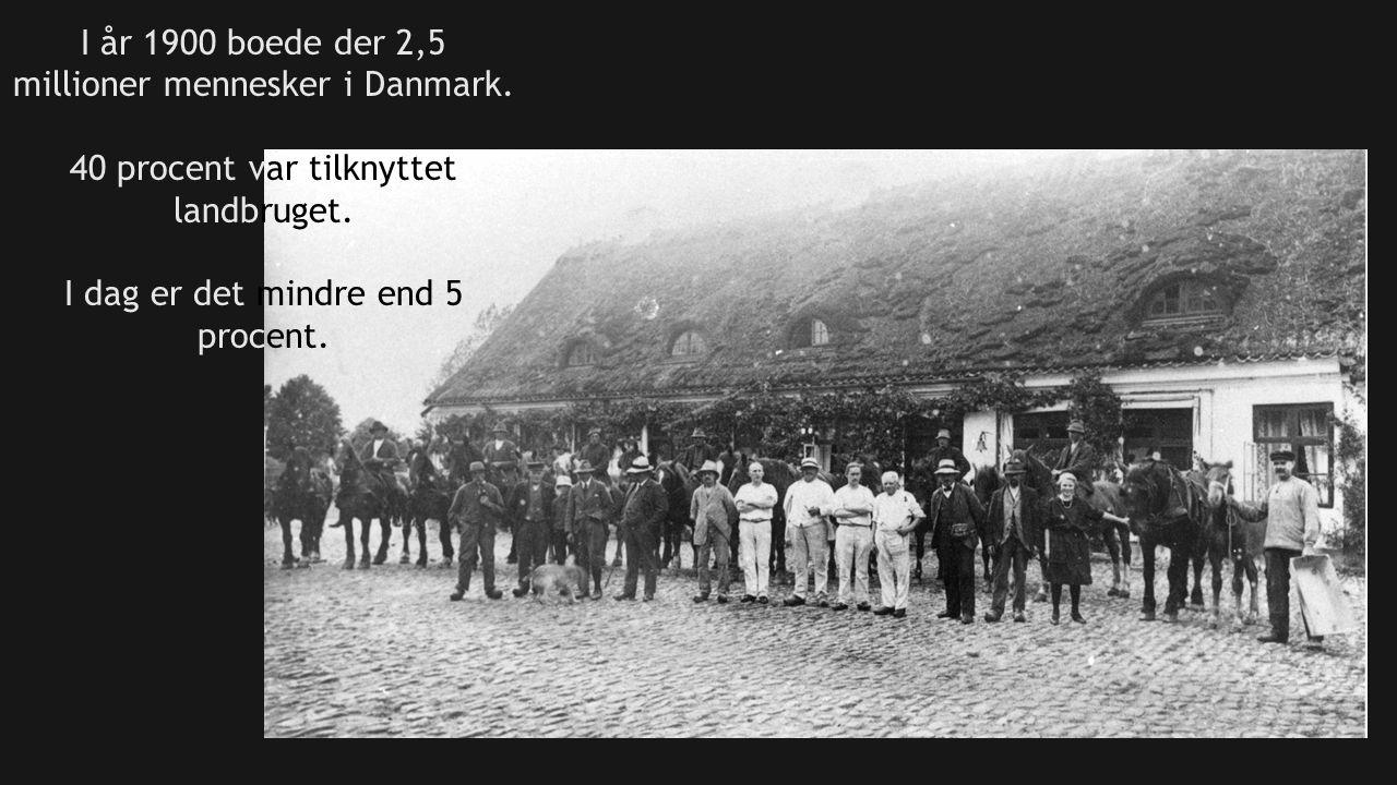 I år 1900 boede der 2,5 millioner mennesker i Danmark.