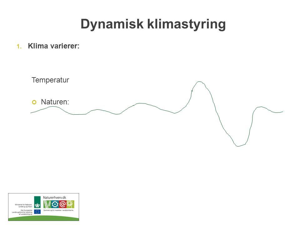 Dynamisk klimastyring 1. Klima varierer: Temperatur Naturen: