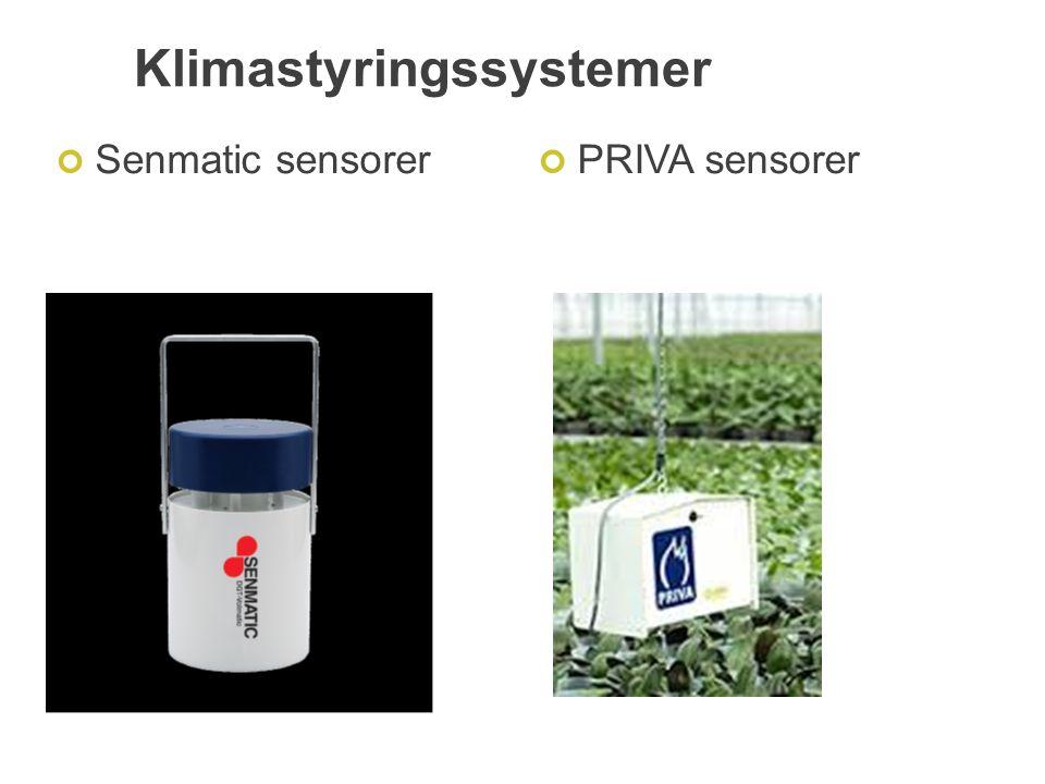 Klimastyringssystemer Senmatic sensorerPRIVA sensorer