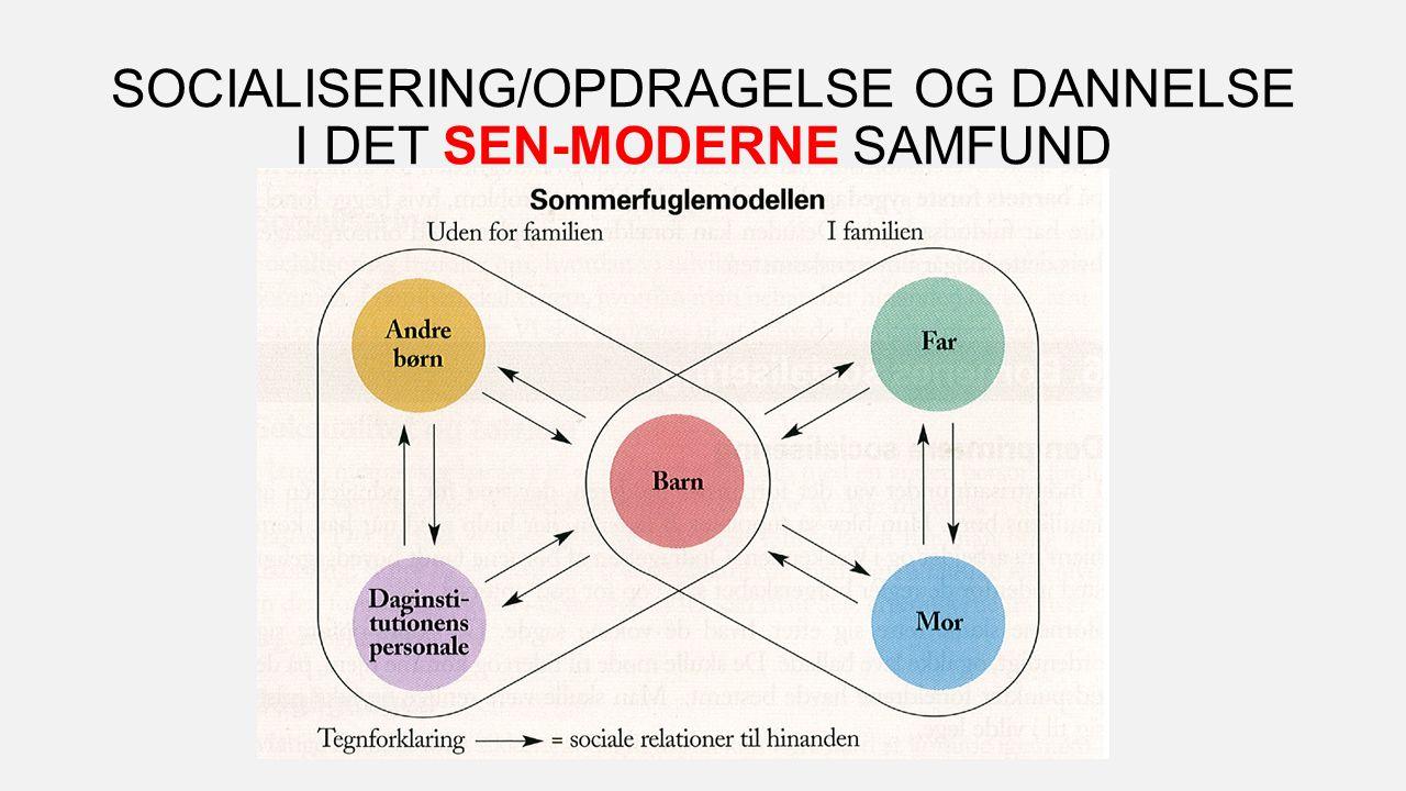 SOCIALISERING/OPDRAGELSE OG DANNELSE I DET SEN-MODERNE SAMFUND