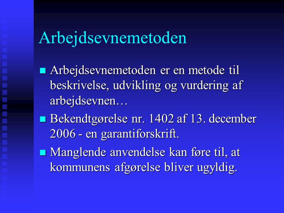 Arbejdsprøvning i øvrigt Sygedagpengelovens § 27, stk.