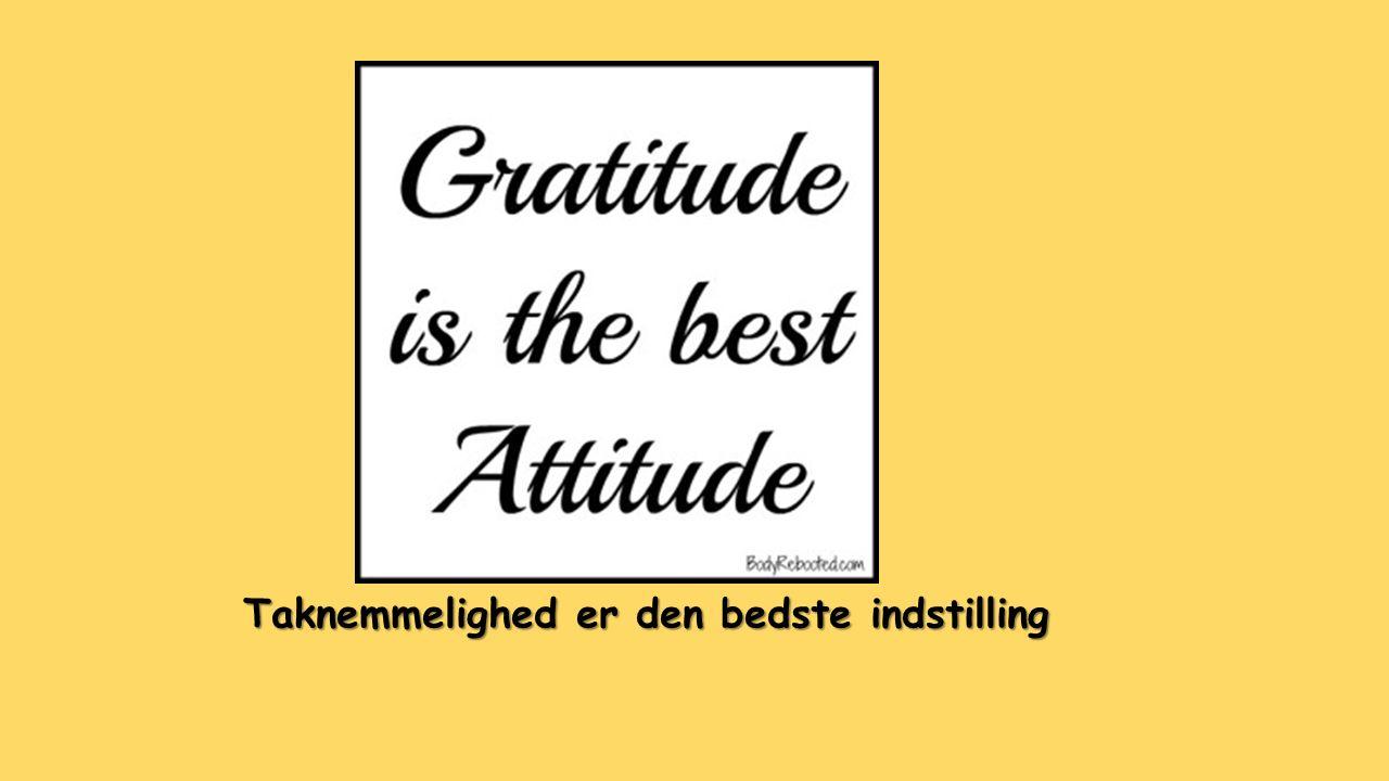 Taknemmelighed er den bedste indstilling