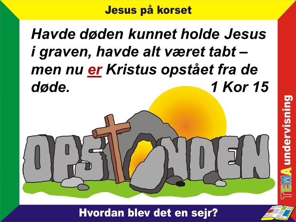 Havde døden kunnet holde Jesus i graven, havde alt været tabt – men nu er Kristus opstået fra de døde.
