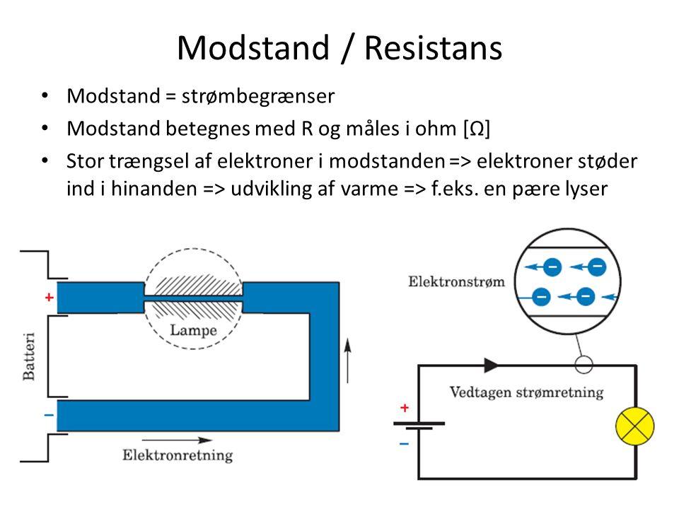 Elektrisk modstand måles i