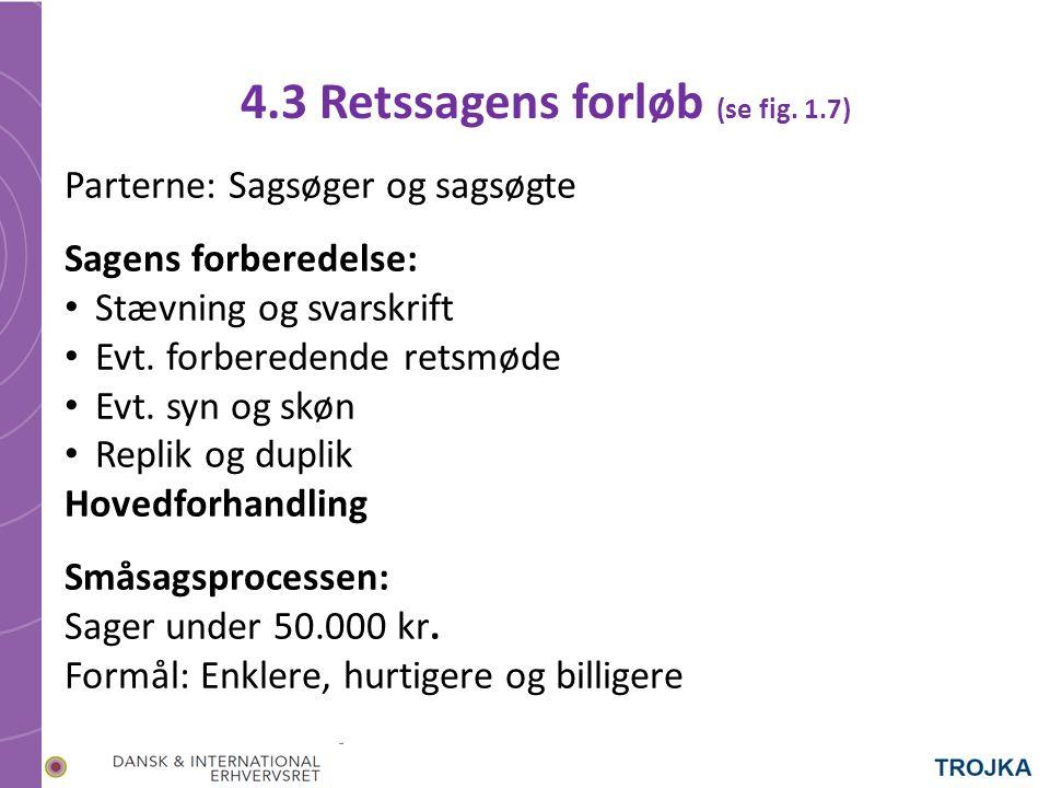 4.3 Retssagens forløb (se fig.