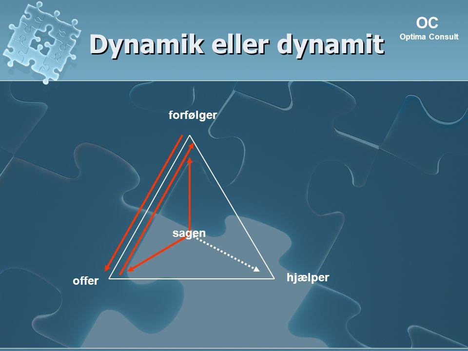 Dynamik eller dynamit hjælper forfølger offer OC Optima Consult sagen