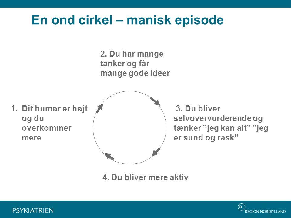 En ond cirkel – manisk episode 2. Du har mange tanker og får mange gode ideer 3.