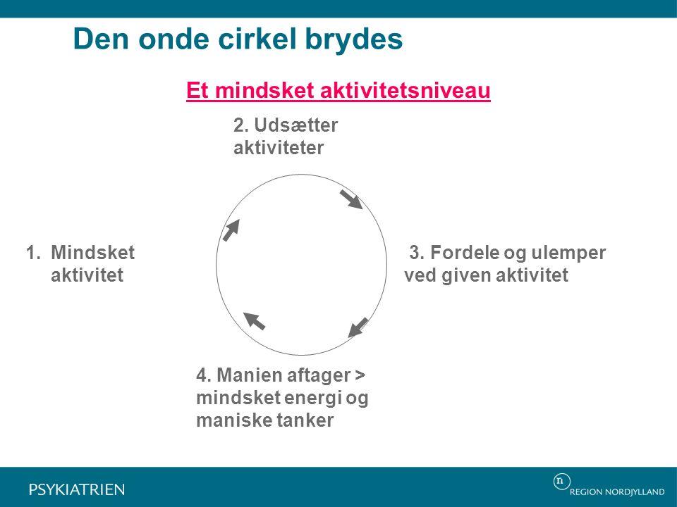 Den onde cirkel brydes Et mindsket aktivitetsniveau 2.