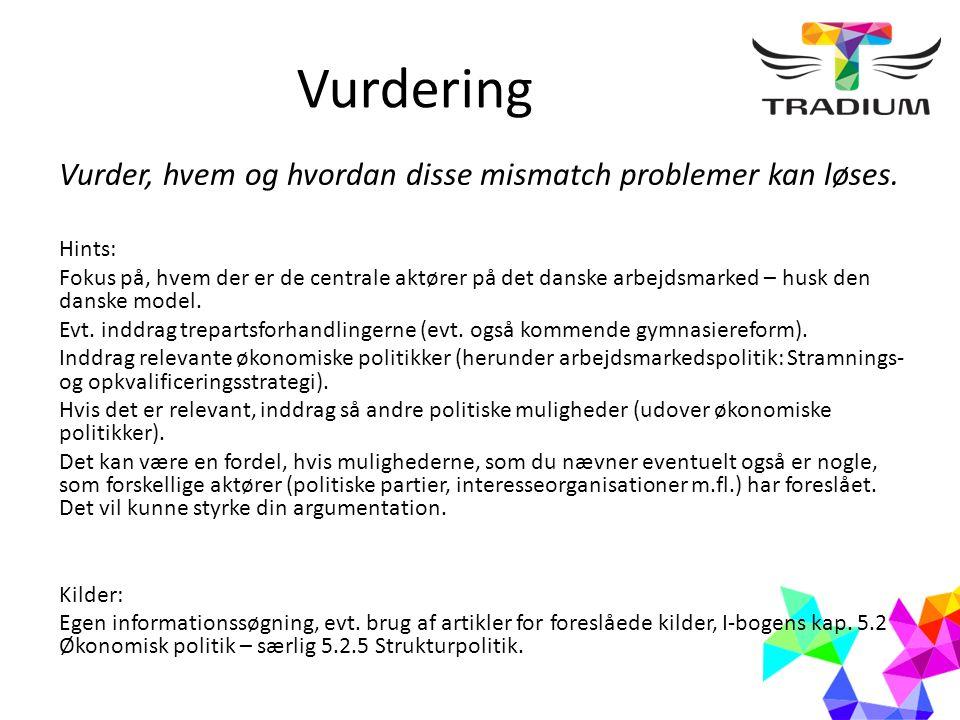 Vurdering Vurder, hvem og hvordan disse mismatch problemer kan løses.