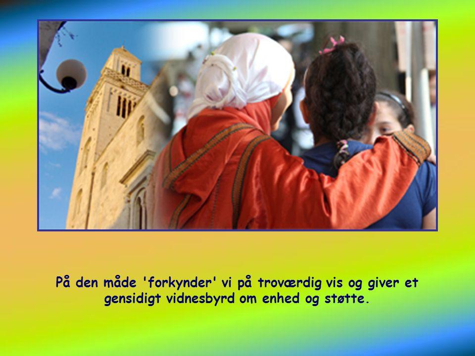 …nemlig at lære hinanden bedre at kende, for derved bedre at være i stand til at fortælle om Herrens mirakler.