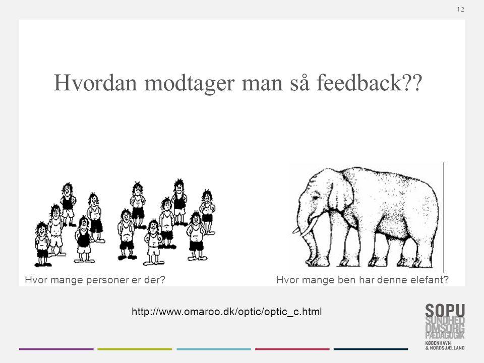 Tekstslide med bullets Brug 'Forøge / Formindske indryk' for at skifte mellem de forskellige niveauer Hvordan modtager man så feedback .