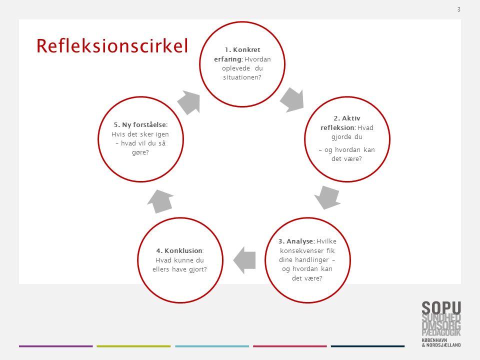 Tekstslide med bullets Brug 'Forøge / Formindske indryk' for at skifte mellem de forskellige niveauer Refleksionscirkel 1.