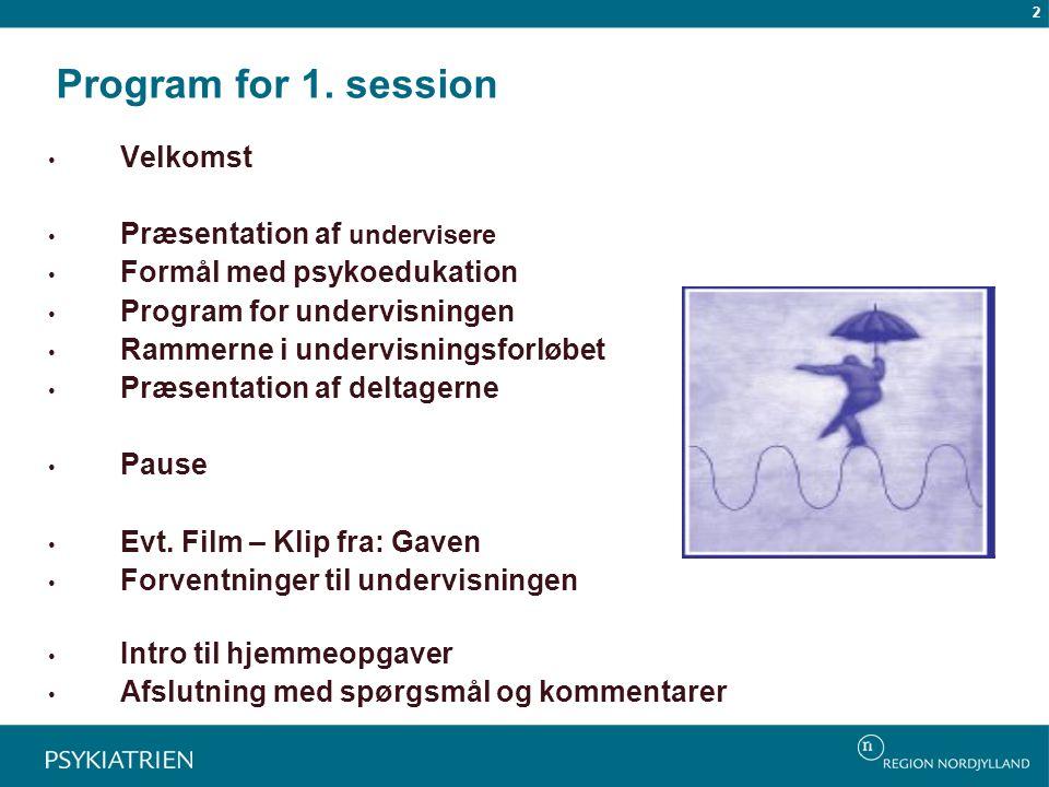 Program for 1.