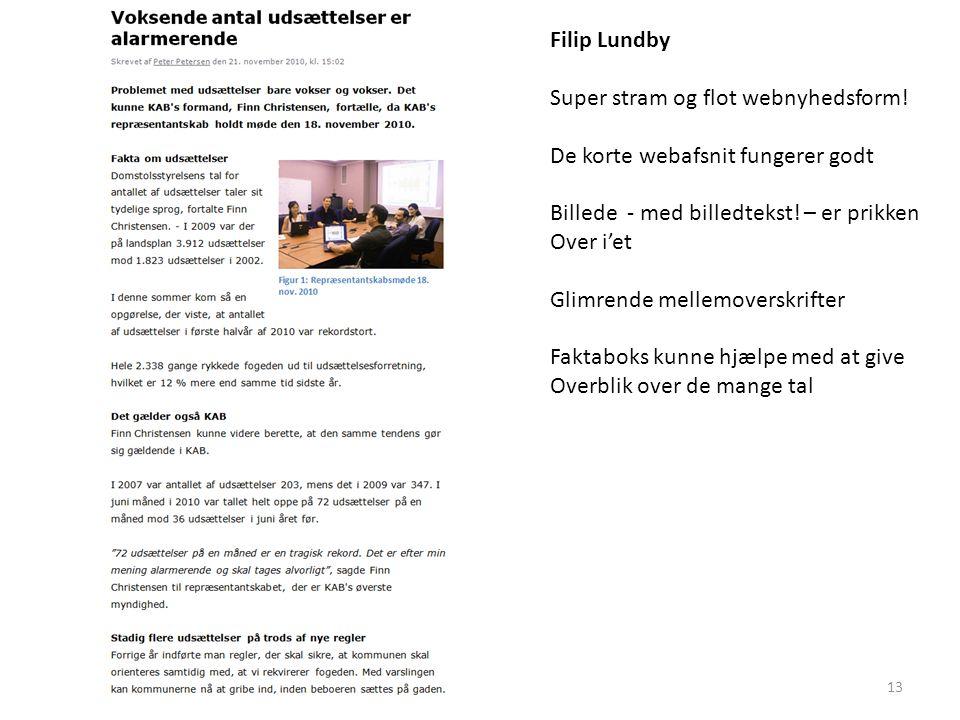 Filip Lundby Super stram og flot webnyhedsform.