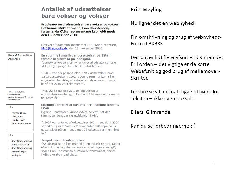 Britt Meyling Nu ligner det en webnyhed.