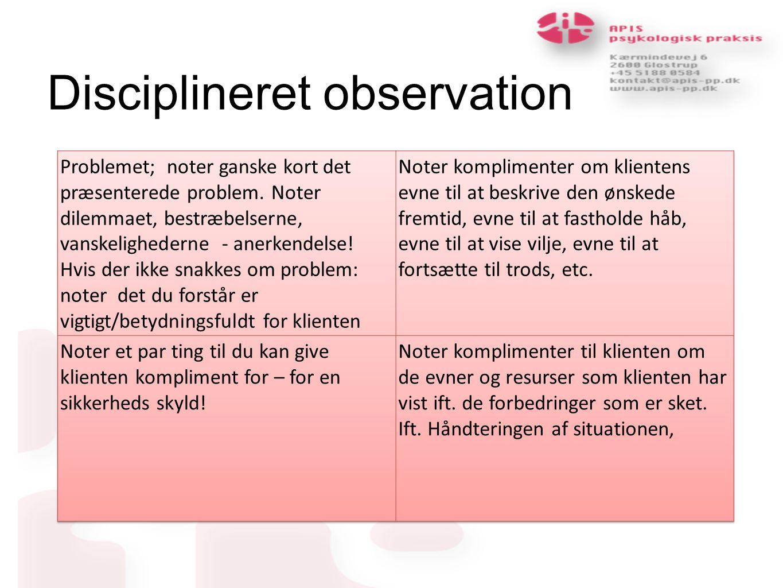 Disciplineret observation