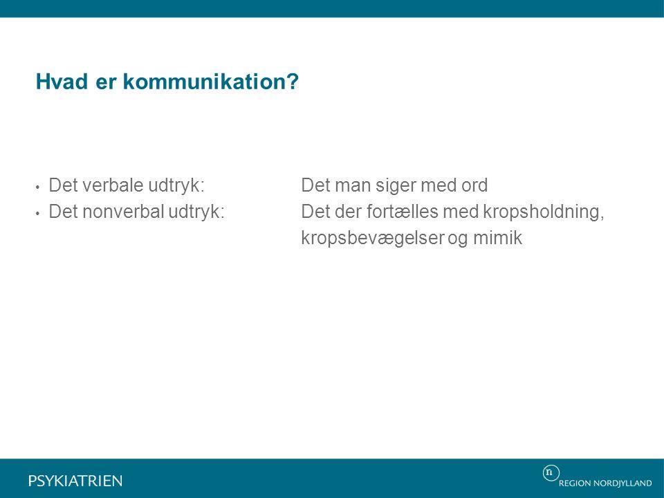 Hvad er kommunikation.
